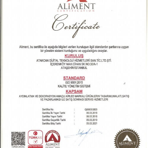 ALIMENT ISO 9001-2015